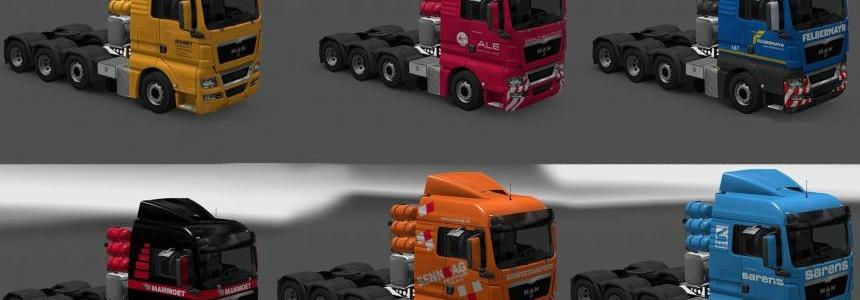 Paintjobs for MAN TGX 2010 by XBS