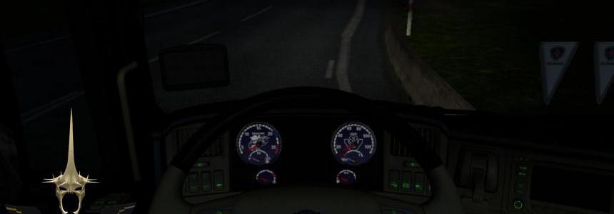 Scania R & R Streamline (DEFAULT) Blue Dashboard Gauges v1.0