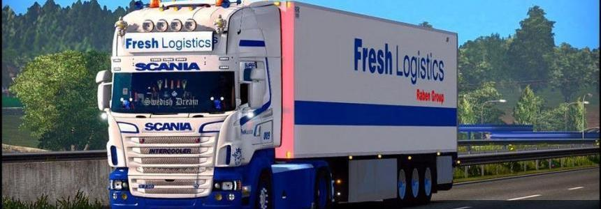 SCANIA RJL FRESH LOGISTICS SKIN 1.27