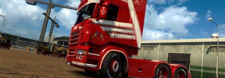 Scania RJL Red Monster Skin