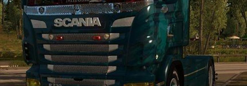 Scania RJL Yellow Headlights