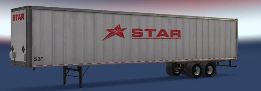 Star Transport Inc. 53' Trailer v1.1 for ATS v1.6.1.8s