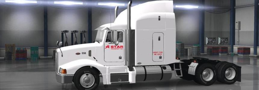 Star Transport Inc. Company Skin for AMT's Peterbilt 377 for ATS v2.0