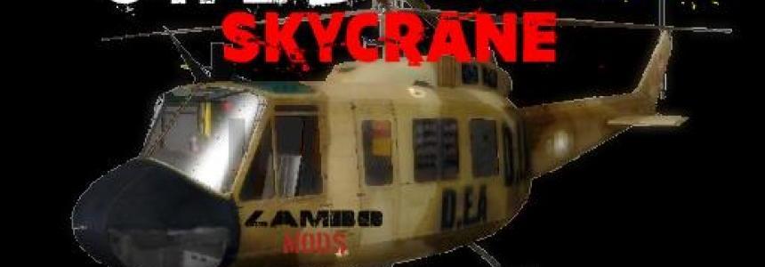 UH2D huey DEA Helicopter SkyCrane v1