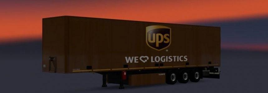 UPS Trailer Skin