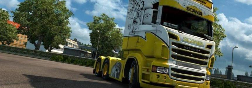 Yellow Beast Skin for Scania RJL