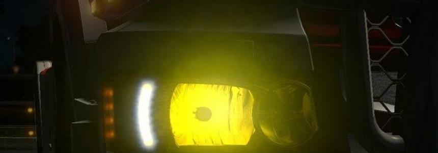 Yellow light Scania RJL