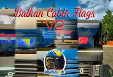 Balkan Cabin Flags
