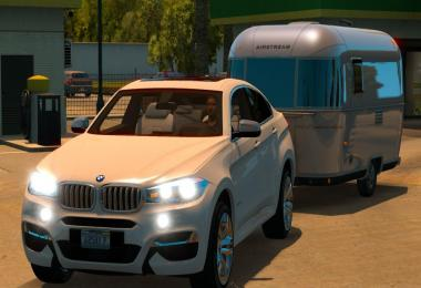 BMW X6M With Trailer