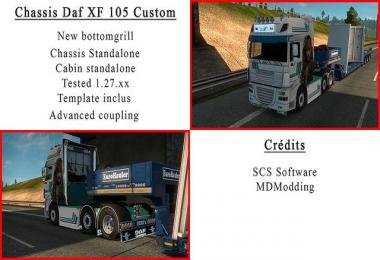 Chassis custom daf xf 105 1.27.x