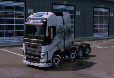 Exclusive coloration from the MB Actros 2014 8x4 to all trucks