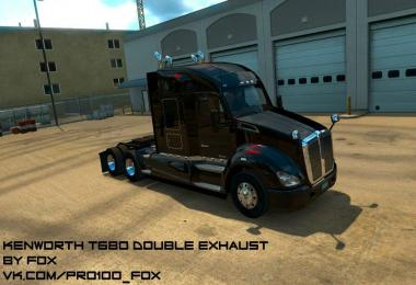 Kenworth T680 Double Exhaust SP/MP (1.6.х)