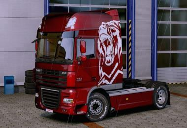Paint White Bear Mercedes Actros 2014 for all Trucks