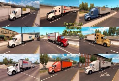 Painted Truck and Trailers Traffic Pack by Jazzycat v1.1