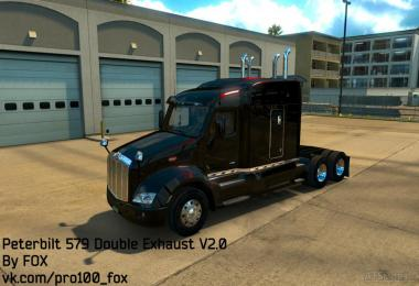 Peterbilt 579 Double Exhaust V2.0 SP/MP
