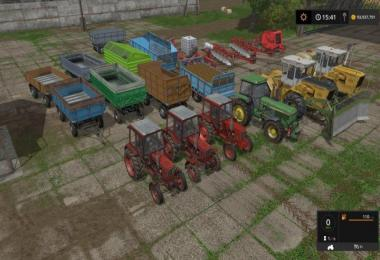 Tractors + Trailers + Tools Pack v1.0