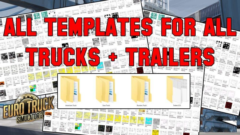 All Truck + Trailer Templates Collection Pack [50 + Template]