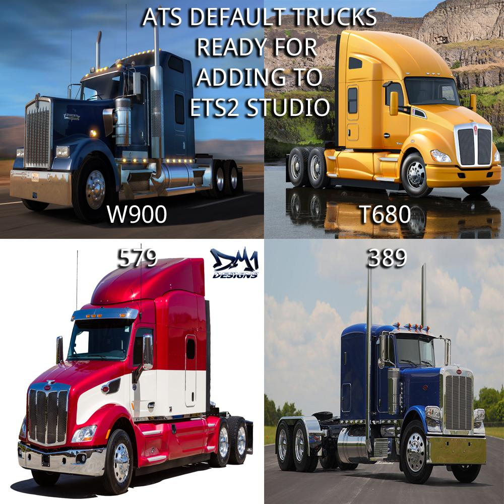 ATS Default Truck Models For ETS2 Studio
