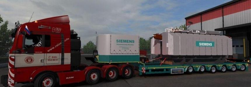 Schwerlast Siemens Trafo Trailer