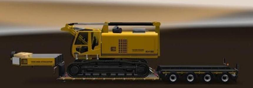 Trailer with crawler crane 1.27