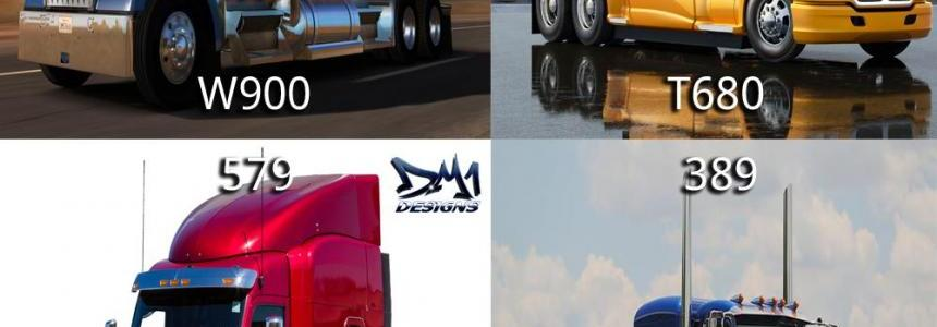 ATS Default Truck Models For ETS2 Studio v1.6