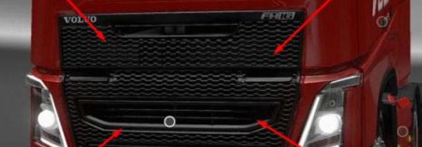 Black grille for VOLVO 1.27.x