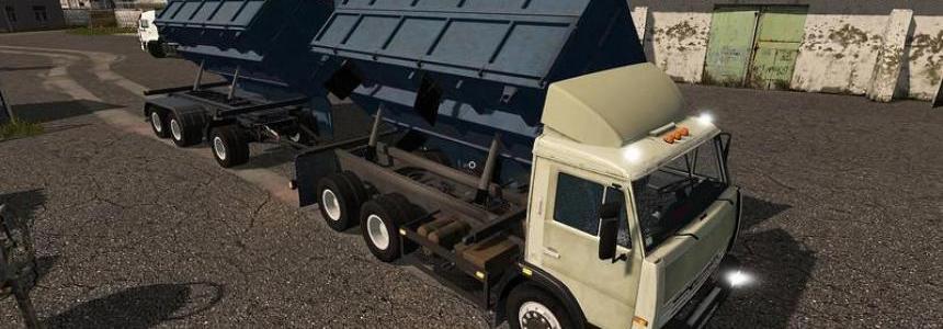Kamaz 45143 dumper + Nefaz trailer v1
