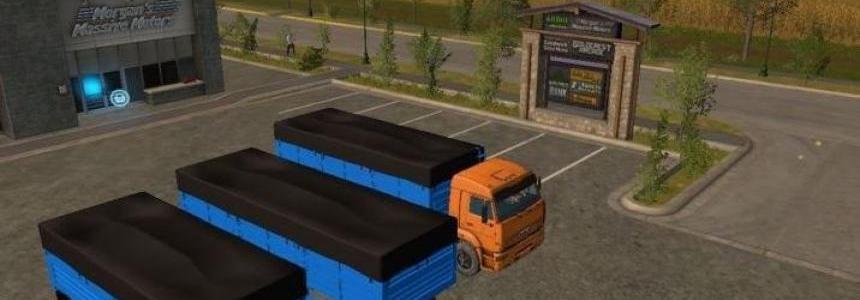 Kamaz 65117 and trailers v1.1