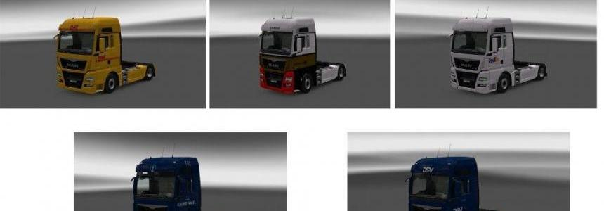 MAN TGX Euro 6 Truck Skin Pack v1.0