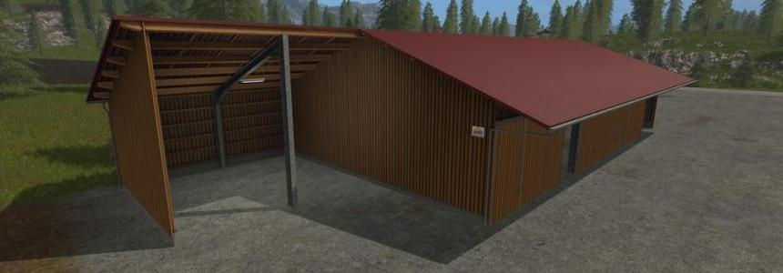 Placeable woodshed for MAchinery and woodchips