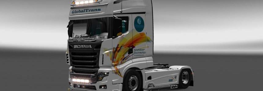 Scania R700 Globaltrans skin 1.27