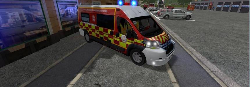 VSAV Citroen Jumper SDIS 38 | Sapeurs pompiers v1.0