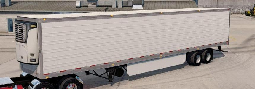 White trailer Reefer 3000r Long for ATS