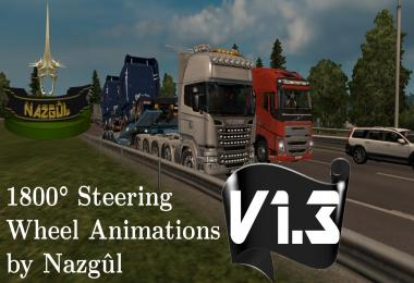 1800 Degrees Steering Wheel Animations v1.3 by Nazgul