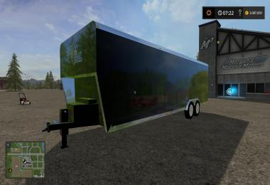 30FT Loadtrail Enclosed Trailer Converted v1
