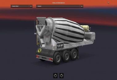 Cement Mixer Active In ETS2