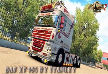 DAF XF 105 v1.6.1 by Stanley + Mega Skin Pack (1.27.x)