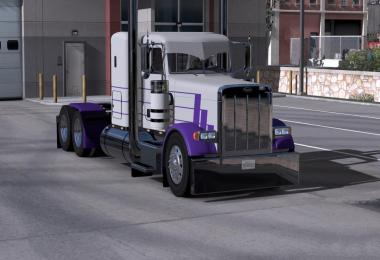Peterbilt Purple & Gray Skin