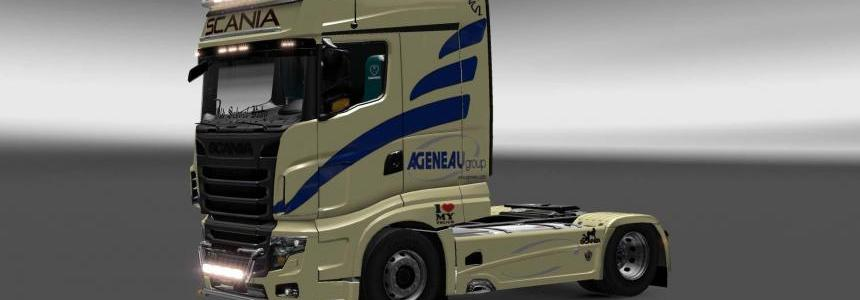 Scania R700 Agenau Group skin 1.27