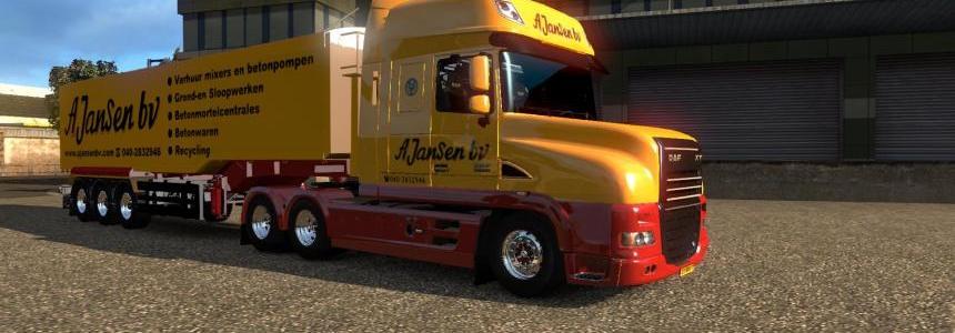 A.Jansen - DAF XT en Braunkohle Trailer 1.27.2.9
