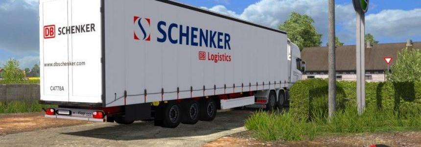 DB Schenker Logistics Skin for Fliegl SDS350 Mega Trailer