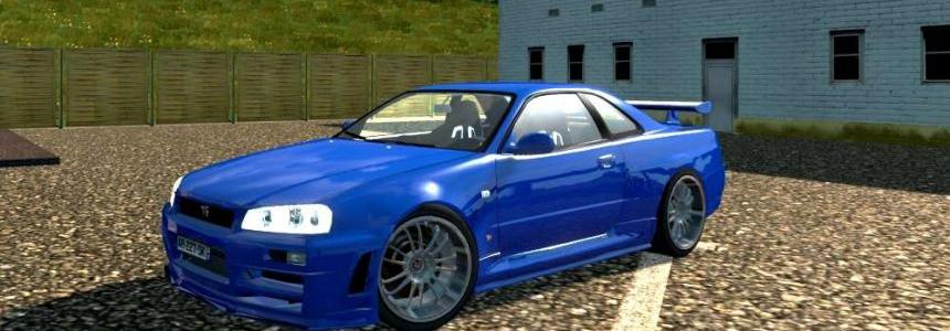 Nissan Skyline GTR R34 v2.0 improved 1.27.x