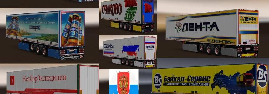 Pack trailers with skins of Russian companies