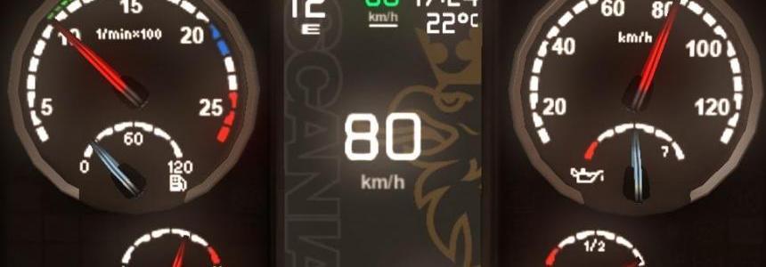 Scania Griffin Custom dashboard v1.1