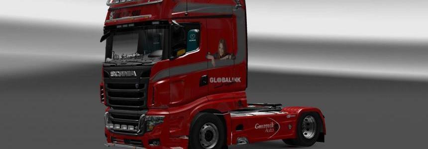 Scania R700 Globalink skin 1.27.x