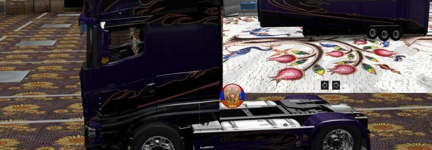 Scania R700 R700 Comdo Skin Packs 1.27.2.9s