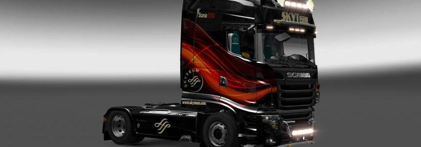Scania R700 Skyteam skin 1.27