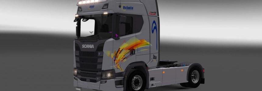 Scania S730 West Trans Line skin 1.27