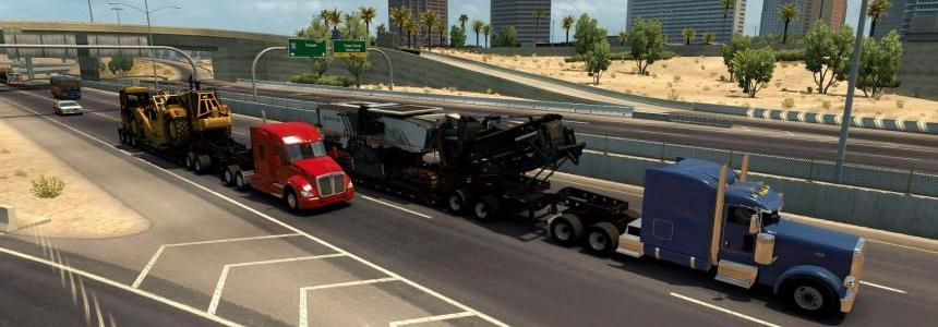Trailers from DLC Heavy Cargo in traffic