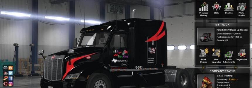 UPDATE M.&.A Trucking Paintjob v1.003